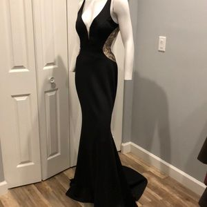 NWOT open back gown